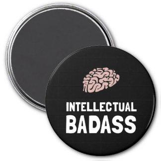 Intellectual Badass 3 Inch Round Magnet