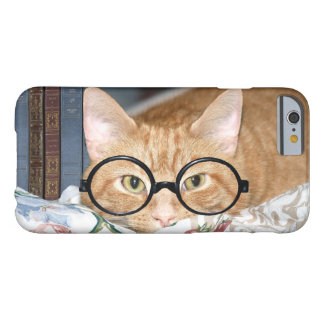 Intellectual cat with books barely there iPhone 6 case