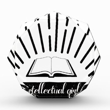Intellectual Girl Funny Nerd Slogan Print Acrylic Award