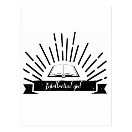 Intellectual Girl Funny Nerd Slogan Print Postcard