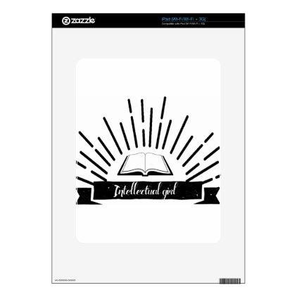 Intellectual Girl Funny Nerd Slogan Print Skin For iPad