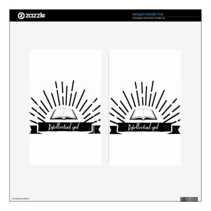 Intellectual Girl Funny Nerd Slogan Print Skin For Kindle Fire