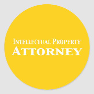Intellectual Property Attorney Gifts Classic Round Sticker