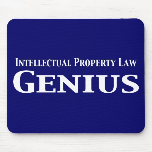 Intellectual Property Law: Intellectual Property Law Genius Gifts Mouse Pad