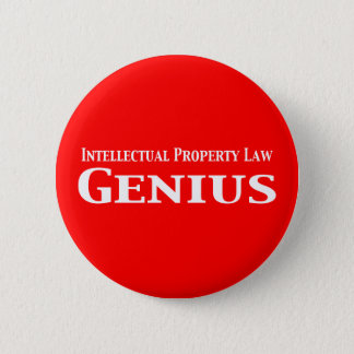 Intellectual Property Law Genius Gifts Pinback Button