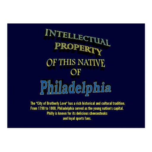 Intellectual Property (Philadelphia) Postcard