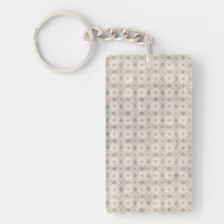 Intellectual Restored Tidy Rational Double-Sided Rectangular Acrylic Keychain