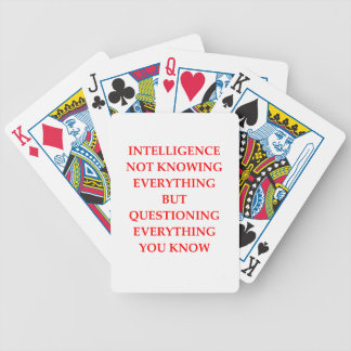 INTELLIGENCE BICYCLE PLAYING CARDS