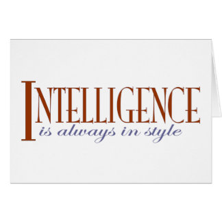 Intelligence Greeting Card