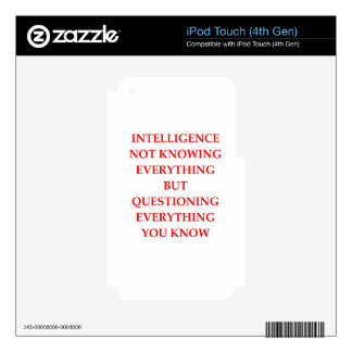 INTELLIGENCE iPod TOUCH 4G SKINS