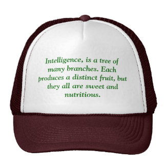 Intelligence, is a tree of many branches. Each ... Mesh Hats