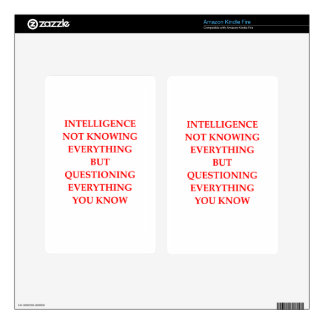 INTELLIGENCE KINDLE FIRE DECAL