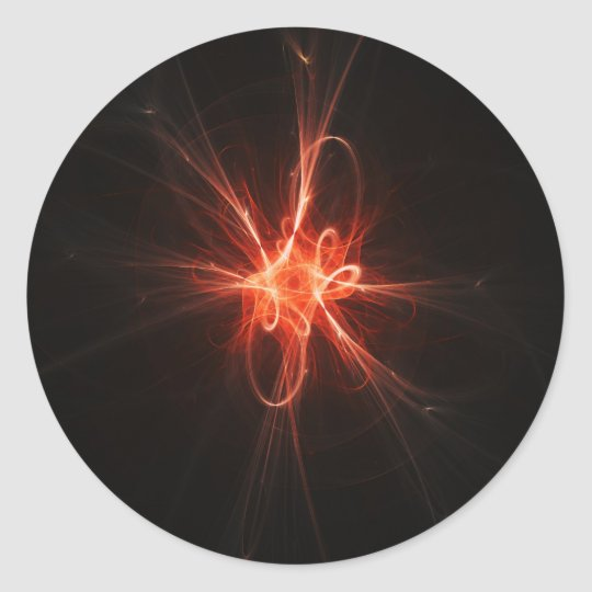 intelligence light core classic round sticker