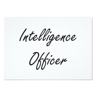 Intelligence Officer Artistic Job Design 5x7 Paper Invitation Card