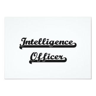 Intelligence Officer Classic Job Design 5x7 Paper Invitation Card