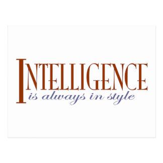 Intelligence Postcard
