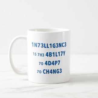 Intelligence Quote Motivational Mug