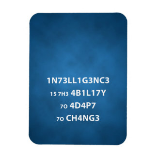 Intelligence Quote Photo Magnet