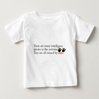 Intelligent Cats Own Us Baby T-Shirt