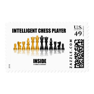 Intelligent Chess Player Inside (Reflective Chess) Stamp