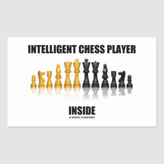 Intelligent Chess Player Inside (Reflective Chess) Rectangular Sticker