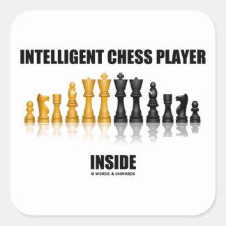 Intelligent Chess Player Inside (Reflective Chess) Square Sticker