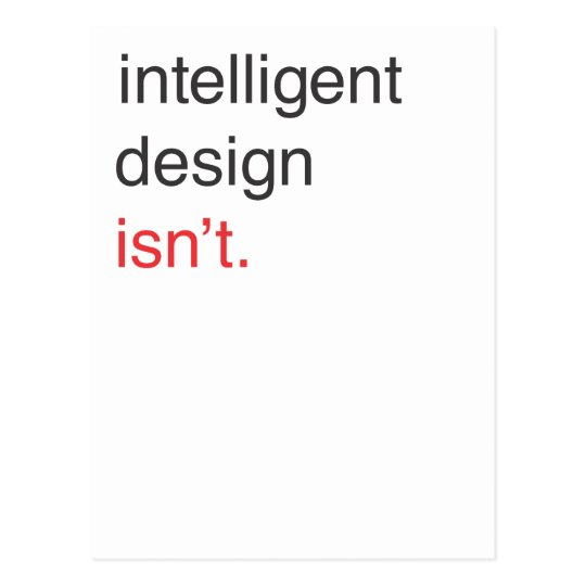 intelligent design postcard