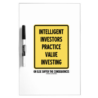 Intelligent Investors Practice Value Investing Dry-Erase Whiteboards