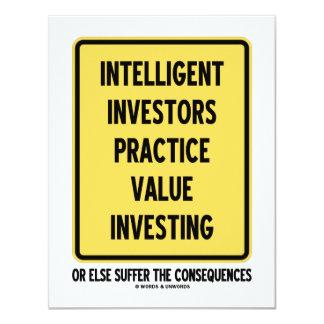 Intelligent Investors Practice Value Investing Invite