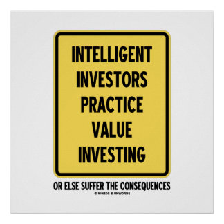Intelligent Investors Practice Value Investing Poster
