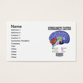 Intelligent Matter Inside (Brain Anatomy) Business Card