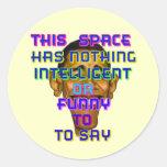 intelligent Obama Round Sticker