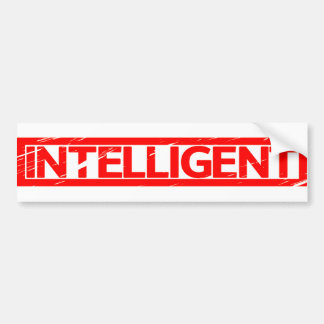 Intelligent Stamp Bumper Sticker