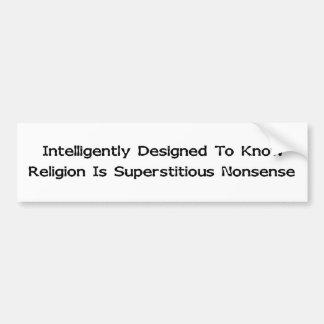 Intelligently Designed Car Bumper Sticker