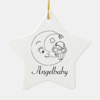Intending ornamentation for star children ceramic ornament