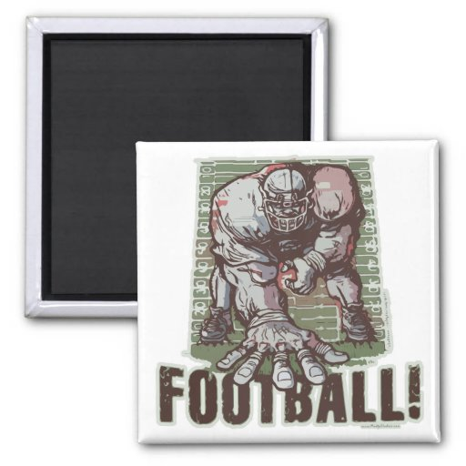 Intense 3 Point Stance by Mudge Studios 2 Inch Square Magnet