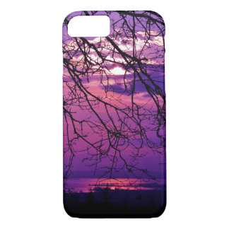 Intense and Vivid -  Purple Sunset Landscape iPhone 8/7 Case