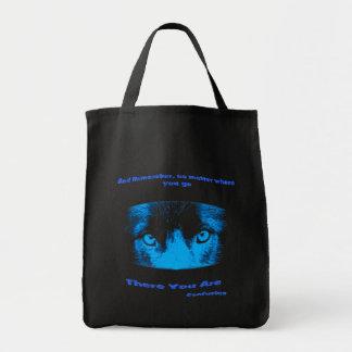 Intense Animal Eyes Inspirational Quote Tote Bag