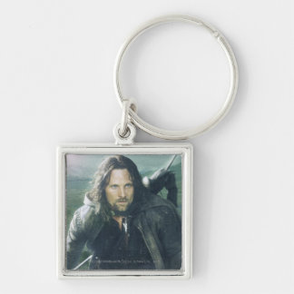 Intense Aragorn Silver-Colored Square Keychain