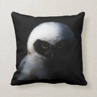 Intense Baby Owl Throw Pillow