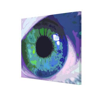 Intense Blue Eye Abstract Canvas