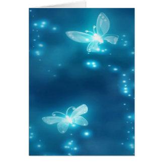 Intense Blue, Glitter and Butterflies Card