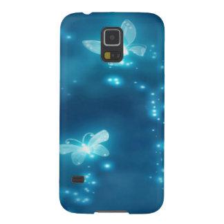 Intense Blue, Glitter and Butterflies Galaxy S5 Cover