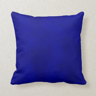 Intense Blue Watercolor Wash Pillow