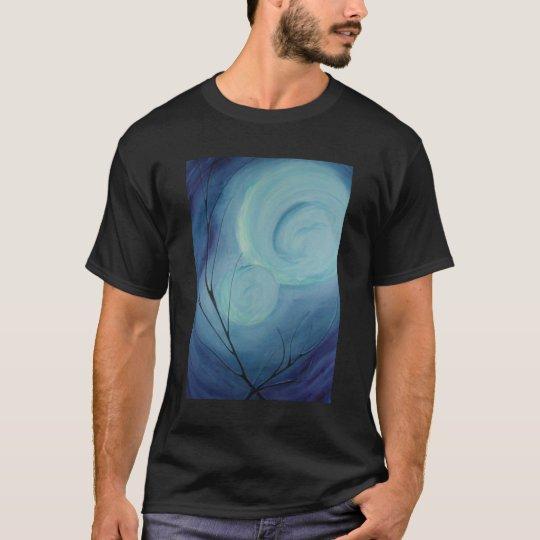 intense blues on a shirt