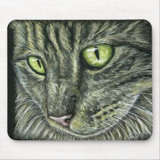 Intense - Cat Art Mouse Pads