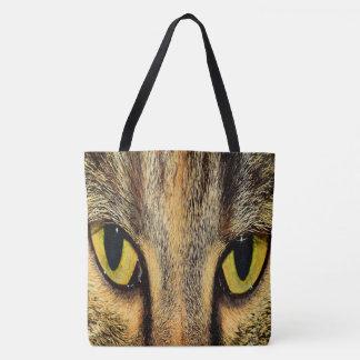 Intense Cat Eyes Tote Bag