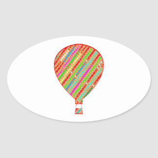 Intense Color ARTISTIC Stripes Balloons Sticker