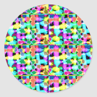 INTENSE Color Patterns Sparkles Giveaway GIFTS luv Classic Round Sticker