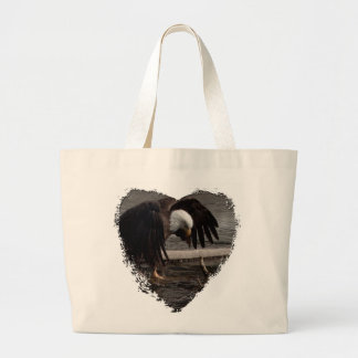 Intense Concentration Large Tote Bag
